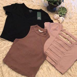 Crop top bundle(3)-1 shirt NWT
